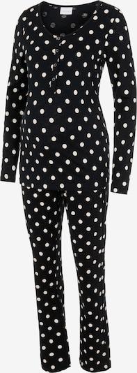 MAMALICIOUS Pyjama 'CHILL' en noir / blanc, Vue avec produit