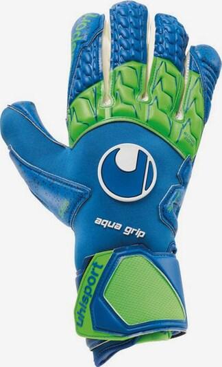 UHLSPORT Handschuhe in blau / hellgrün / weiß, Produktansicht