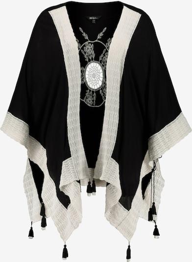 Ulla Popken Kimono in schwarz / weiß, Produktansicht
