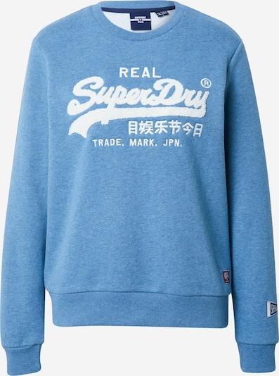Superdry Sweatshirt in himmelblau / weiß, Produktansicht