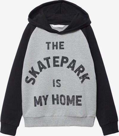 MANGO KIDS Sweatshirt 'Hoom' in graumeliert / schwarz, Produktansicht