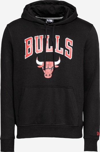 NEW ERA Sweatshirt 'Chicago Bulls' in hellrot / schwarz / weiß, Produktansicht