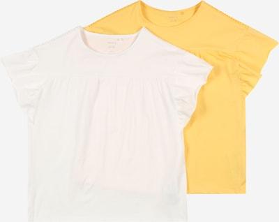 NAME IT T-shirt 'DAGIL' i saffran / vit, Produktvy