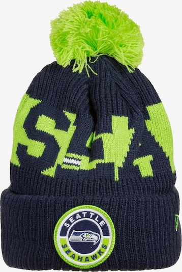 NEW ERA Mütze 'NFL Seattle Seahawks Cold Weather Sport Knit' in navy / neongrün / weiß, Produktansicht