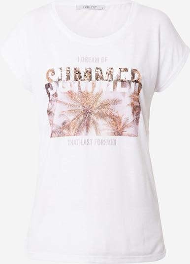 Hailys Shirt 'Xenia' in de kleur Bruin / Grijs / Wit, Productweergave