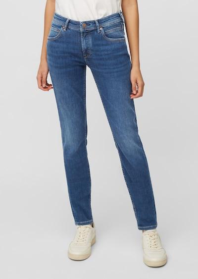 Marc O'Polo DENIM Jeans Modell ALVA mid slim ' in dunkler Waschung ' in blue denim, Modelansicht