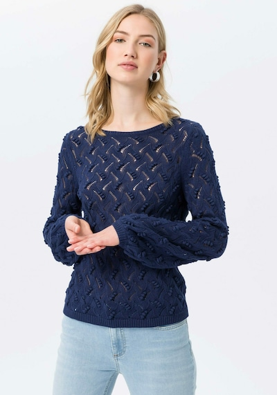 Peter Hahn Pullover 'Pullover' in blau: Frontalansicht