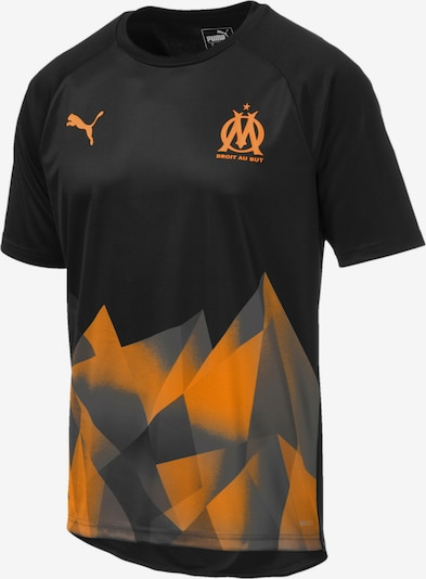 PUMA Olympique de Marseille International Stadium Trikot in orange / schwarz, Produktansicht