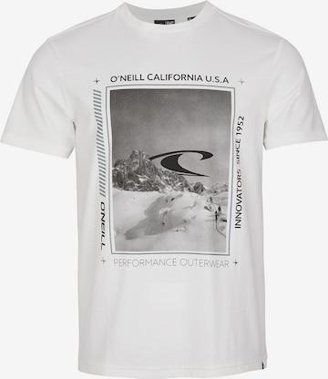Maglietta 'Mountain Frame' di O'NEILL in bianco