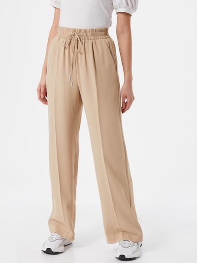 River Island Pantalon à plis en beige, Vue avec modèle
