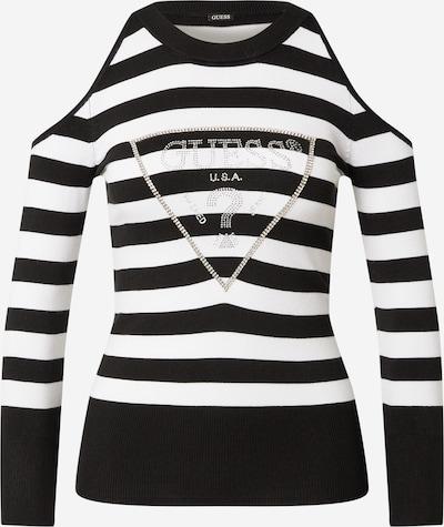 GUESS Trui 'AURELIE' in de kleur Zwart / Zilver / Wit, Productweergave