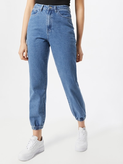 Jeans Missguided di colore blu denim, Visualizzazione modelli