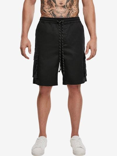 Urban Classics Pantalon cargo en noir, Vue avec modèle