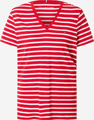 TOMMY HILFIGER Shirt in rot / weiß, Produktansicht