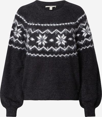 EDC BY ESPRIT Sweter w kolorze czarny / białym, Podgląd produktu