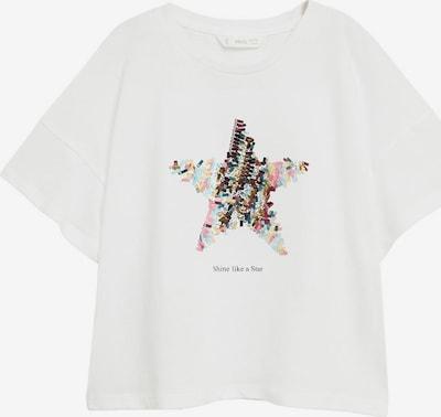 MANGO KIDS T-Shirt 'STAR' in mischfarben / weiß, Produktansicht
