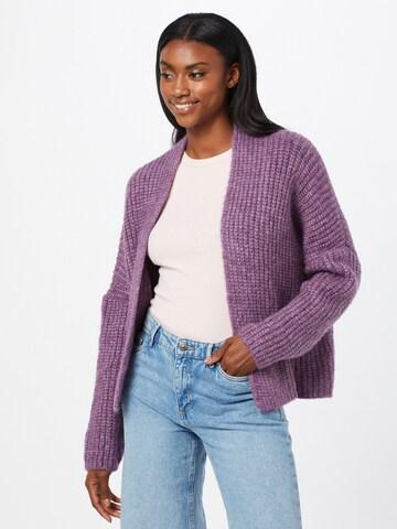 Herrlicher Knit Cardigan 'Alissa' in Purple