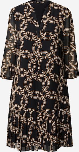 COMMA Kleid in braun / schwarz / weiß, Produktansicht