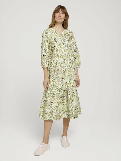 TOM TAILOR Kleid in hellgrün / mischfarben, Modelansicht