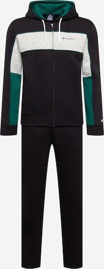 Champion Authentic Athletic Apparel Träningsdräkt i ljusgrå / smaragd / svart, Produktvy
