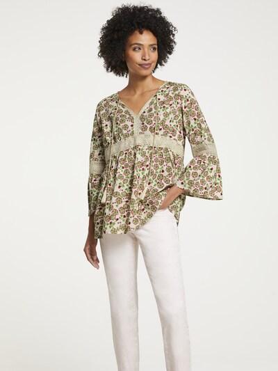 heine Bluse in beige / grün / rot, Modelansicht