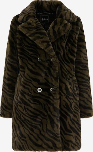 faina Wintermantel in khaki / schwarz, Produktansicht