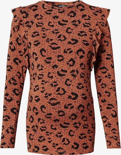Supermom Shirt in braun / schwarz, Produktansicht