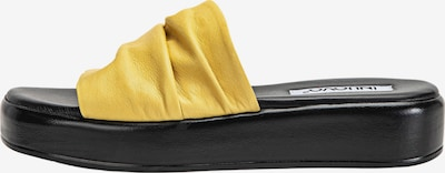 INUOVO Pantolette in gelb / schwarz, Produktansicht