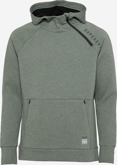 Superdry Športna majica | siva / večbarvno zelena barva, Prikaz izdelka