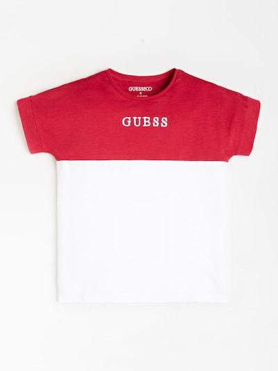 GUESS KIDS Shirt in rot / weiß, Produktansicht