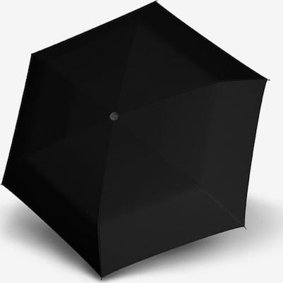 Doppler Taschenschirm 'Fiber Havanna' in schwarz, Produktansicht