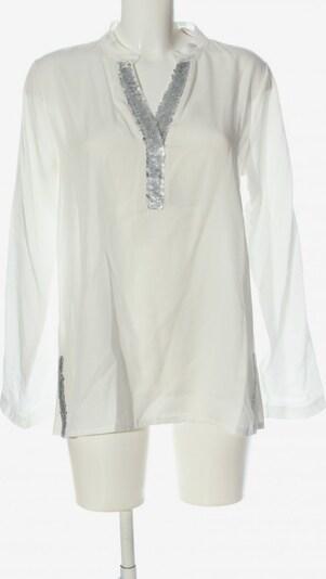 iSilk Hemd-Bluse in L in silber / weiß, Produktansicht
