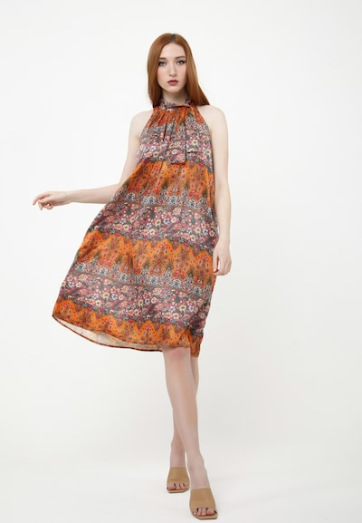 Madam-T Sommerkleid 'CELOSIA' in orange / rosa, Modelansicht
