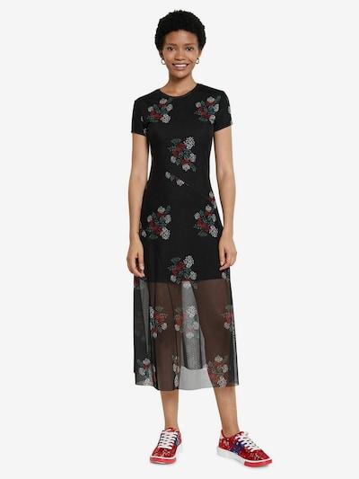 Desigual Robe 'VEST ESTELA' en mélange de couleurs / noir, Vue avec modèle