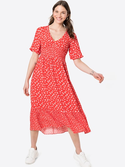 FRENCH CONNECTION Kleid 'FAYOLA' in rot / weiß, Modelansicht