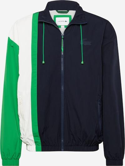 LACOSTE Starpsezonu jaka, krāsa - tumši zils / zaļš / balts, Preces skats