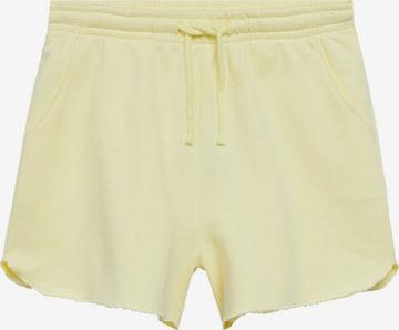 MANGO TEEN Shorts in Gelb