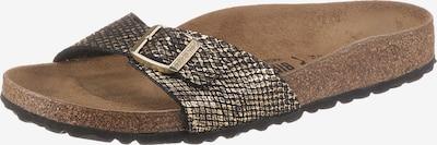 BIRKENSTOCK Pantolette in gold / schwarz, Produktansicht