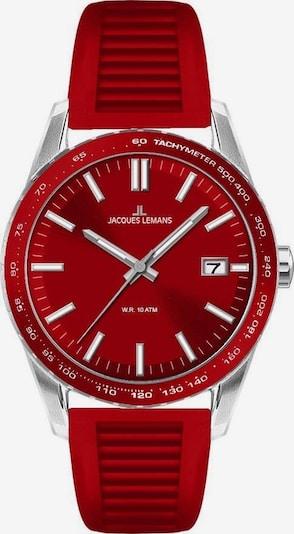Jacques Lemans Uhr 'Liverpool' in feuerrot / silber, Produktansicht