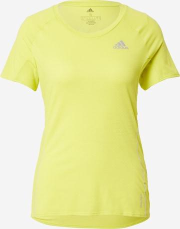 ADIDAS PERFORMANCE Λειτουργικό μπλουζάκι 'Runner' σε κίτρινο