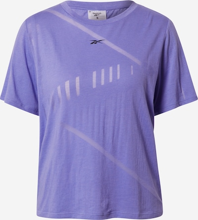 REEBOK Tehnička sportska majica u svijetloljubičasta / crna, Pregled proizvoda