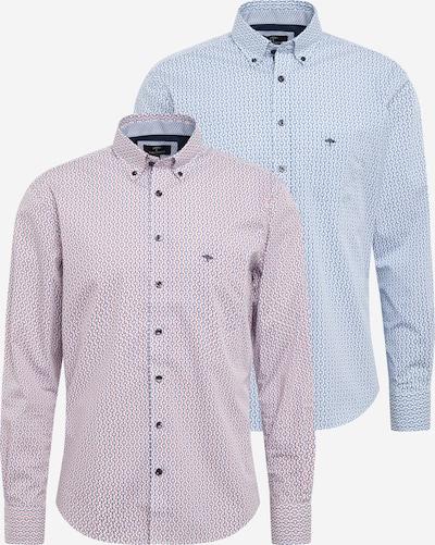 Dalykinio stiliaus marškiniai iš FYNCH-HATTON , spalva - šviesiai mėlyna / tamsiai raudona / balta, Prekių apžvalga