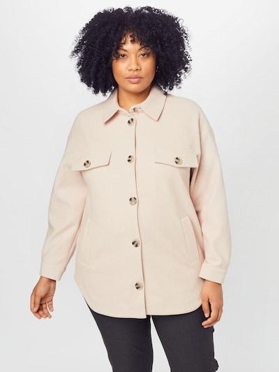 Vero Moda Curve Mantel in creme / sepia, Modelansicht