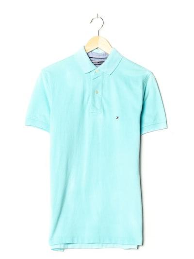 TOMMY HILFIGER Polohemd in XS/S in cyanblau, Produktansicht