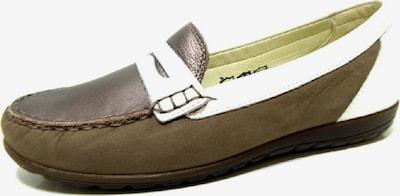 WALDLÄUFER Slipper in braun / weiß, Produktansicht