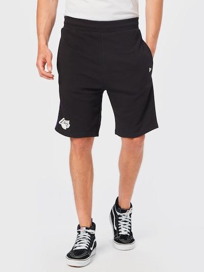 NEW ERA Sportovní kalhoty - tmavě fialová / černá / bílá, Model/ka