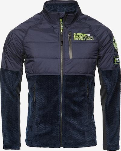 Superdry Fleece jas in de kleur Marine / Groen, Productweergave