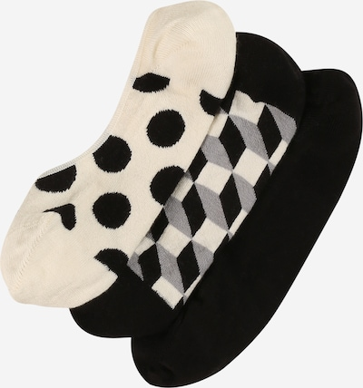 Happy Socks Ankle socks in mottled grey / Black / Wool white, Item view