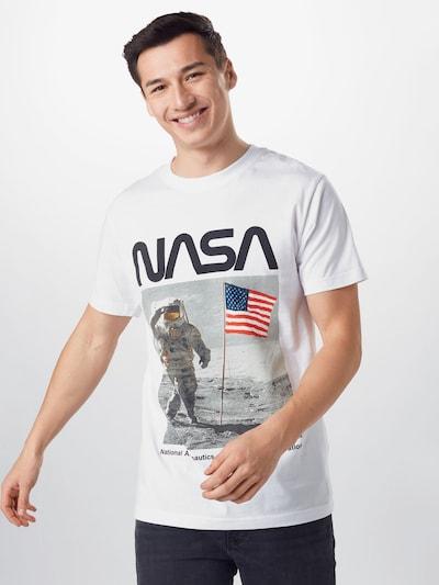 Mister Tee T-Shirt en bleu marine / gris / mélange de couleurs / noir / blanc cassé: Vue de face