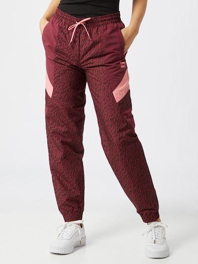 Pantaloni PUMA pe burgund / negru / alb, Vizualizare model